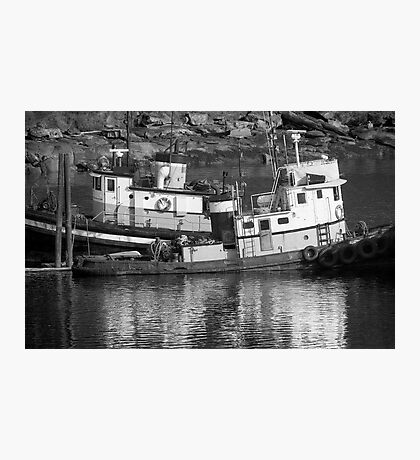 Tug Boats in Nanaimo Harbor, BC, Canada Photographic Print