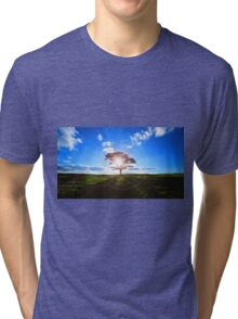 Lone Tree in Tea Tri-blend T-Shirt