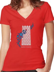 Tower of Joy Women's Fitted V-Neck T-Shirt