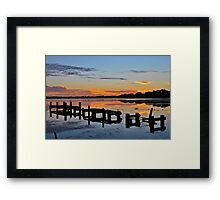 Budgewoi Lake. 11-2-11 sunrise. Framed Print