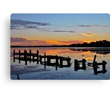 Budgewoi Lake. 11-2-11 sunrise. Canvas Print