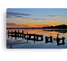 Budgewoi Lake. 11-2-11 sunrise. Canvas Print