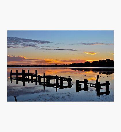Budgewoi Lake. 11-2-11 sunrise. Photographic Print