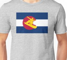Colorado snowboarder flag Unisex T-Shirt