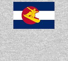 Colorado snowboarder flag Unisex T-Shirt