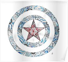 Stars and Stripes Shield Poster