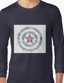 Stars and Stripes Shield Long Sleeve T-Shirt