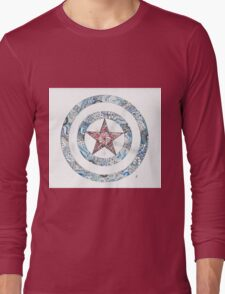 Stars and Stripes Shield Long Sleeve T-Shirt