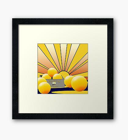 'Sunny Giants' Framed Print