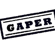 Gaper Stamp (Black) by drubdrub