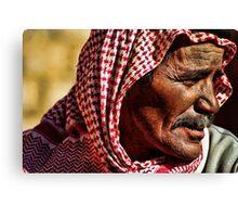 Bedouin elder Canvas Print