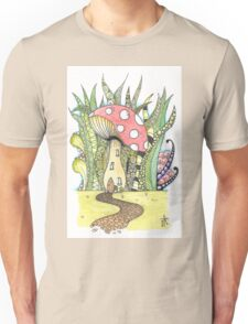 Fairy Toadstool Watercolour Unisex T-Shirt