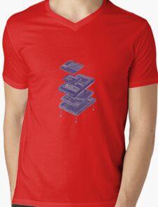Data Bank Mens V-Neck T-Shirt