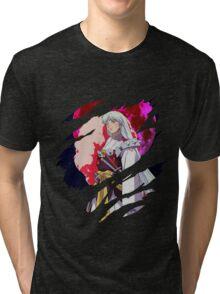 inuyasha sesshomaru moon anime manga shirt Tri-blend T-Shirt
