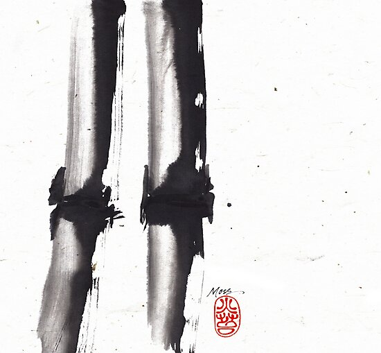 Bamboo Sumi-e by Ron C. Moss