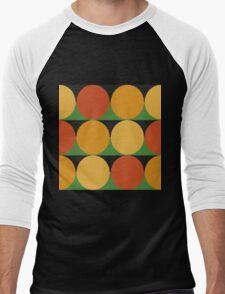 70's retro style dotted pattern Men's Baseball ¾ T-Shirt