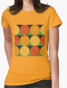 70's retro style dotted pattern Womens Fitted T-Shirt