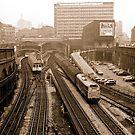Farringdon Station 1974, London, UK. by David A. L. Davies