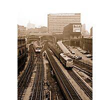 Farringdon Station 1974, London, UK. Photographic Print