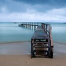Shelly Beach Storm in Colour by Matt Bishop
