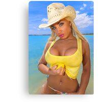 Bombshell in a bikini2 Canvas Print