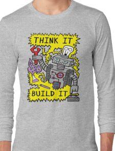Think Build Robot Long Sleeve T-Shirt