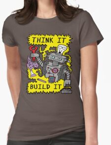 Think Build Robot Womens Fitted T-Shirt