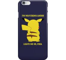 pokemon pikachu i'm watching anime leave me be anime manga shirt iPhone Case/Skin