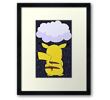 pokemon sad pikachu anime manga shirt Framed Print