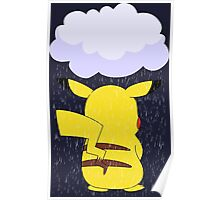 pokemon sad pikachu anime manga shirt Poster