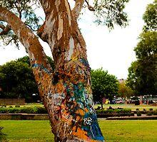 Graffiti tree by Sean Villa