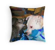 MICKEY ~ MACKIE AND DOLLAR Throw Pillow