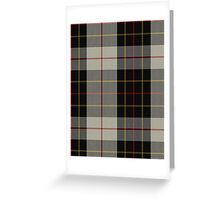 00396 Brodie Fashion Tartan  Greeting Card