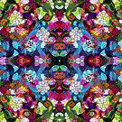 Colorful Floral Collage Pattern by artonwear
