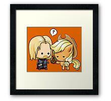 Boromir & Applejack Framed Print