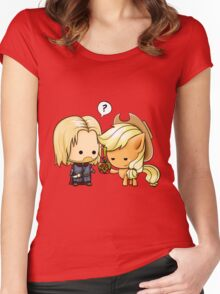 Boromir & Applejack Women's Fitted Scoop T-Shirt