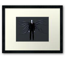Slender Man with Black Tentacles Framed Print