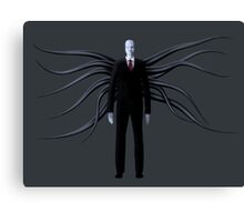 Slender Man with Black Tentacles Canvas Print