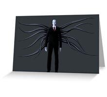 Slender Man with Black Tentacles Greeting Card
