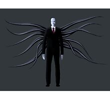 Slender Man with Black Tentacles Photographic Print