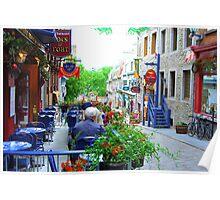 Quebec City - Lunch Al Fresco Poster
