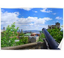 Quebec City - Scenic Cannons Poster
