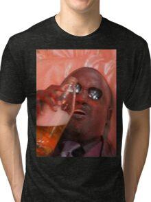 MORPHEUSDRINKINAFORTYINADEATHBASKET Tri-blend T-Shirt