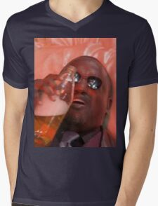 MORPHEUSDRINKINAFORTYINADEATHBASKET Mens V-Neck T-Shirt