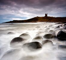 Dunstanburgh at High Tide by Jeanie