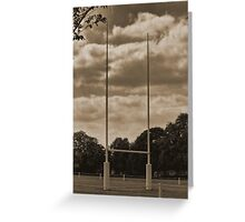 Rugby goal post at Rugby School Greeting Card