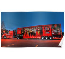 coca-cola delivery truck Poster
