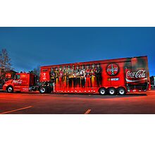 coca-cola delivery truck Photographic Print