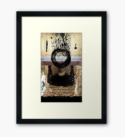 MEMORIES ARE (JUST) A BLEEDING ANIMAL Framed Print