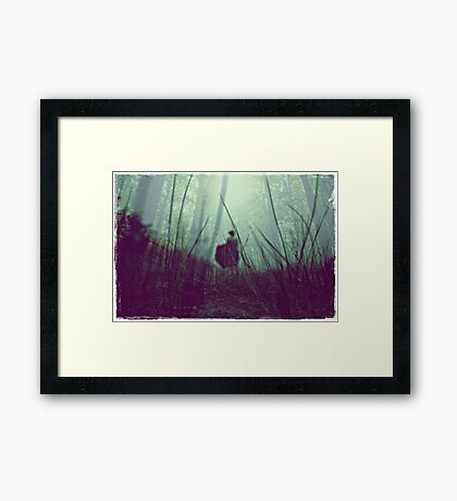 i tried to wash away the stains on my heart but they seem to be incorrigible.  Framed Print